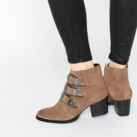 ASOS REBEL Western Ankle Boots