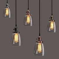 Lamp Cover E27 2M Retro Vintage Industrial Coffee House Glass Cover Ceiling Pendant Lamp Chandelier Light Lamp Shade Fixture