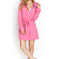 FOREVER 21 Hooded Terrycloth Robe