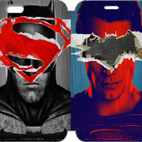 """Batman v Superman: Dawn of Justice Wallet Case w/ STAND Flip Cover for iPhone 6/6s PLUS (5.5"""")"""