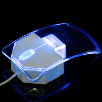 Top Sale Transparent Led Optical Wired Mouse Beautiful Blue Light USB Mouse Mice For Computer PC Laptop Desktop