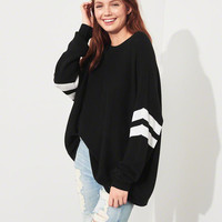 Girls Stripe Oversized Sweater | Girls Tops | HollisterCo.com