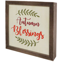 Wood Blessings Sign 7.9 x 7.9-in.