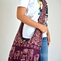 Fabulous Amethyst Cotton Bag Handbags Elephant Bag Hippie Hobo Bag Boho Bag Shoulder Bag Sling Bag Messenger Bag Crossbody Purse