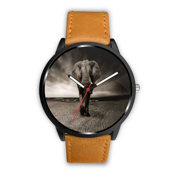 Leather Elephant Watches For Men & Women
