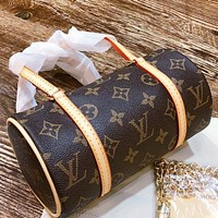 LV New fashion monogram pritn leather pillow shape shoulder bag crossbody bag handbag