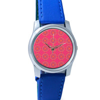 Garland Of Geometrical Patterns(Pink) Wrist Watch
