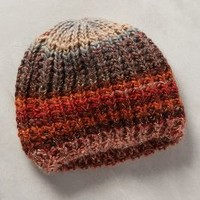 Blushwood Striped Beanie by Anthropologie Purple Motif One Size Hats