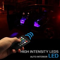 LED Car Strip Foot Light Floor Decoration Remote Control