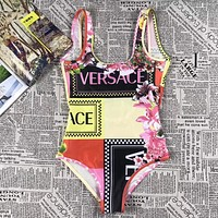 Versace New fashion more print vest one piece bikini swimsui