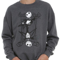 The Nightmare Before Christmas Jack Playing Card Crew Pullover