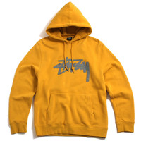 Wool Stock Applique Pullover Hoody Mustard