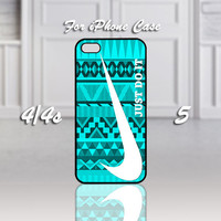 Nike Just Do It Mint Design, Design For iPhone 4/4s Case or iPhone 5 Case - Black or White (Option)