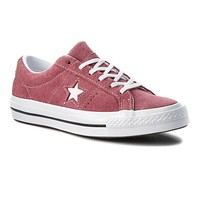 Converse One Star OX Deep Bordeaux Suede 261790C Grade School Youth Shoes