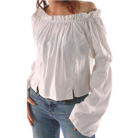 Ruffled Neck Ladies Blouse - FX1131 from Dark Knight Armoury