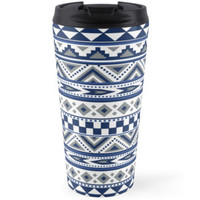 Geometric pattern Navy and silver