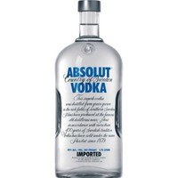 Absolut Vodka Blue 80p Vodka 1.75 L - Walmart.com