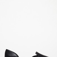 Faux Leather d'Orsay Flats