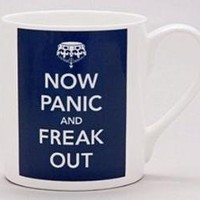 now panic and freak out mug by the laurel tree   notonthehighstreet.com