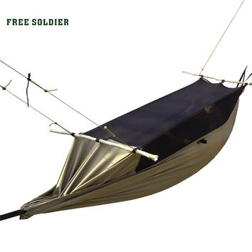 FREE SOLDIER Outdoor Sports Hiking Portable Hammock Tent Multi-function Camping Hammocks Mosquito Net Hanging Bed For Travel Kit