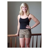 Dazzle Shorts in Gold
