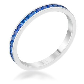 Teresa Sapphire Silver Eternity Ring | 1ct | Stainless Steel