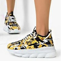 Versace men and women fashion trend platform low-top casual sneakers shoes