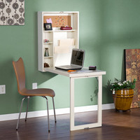 Murphy Winter White Fold-Out Convertible Desk | Overstock.com