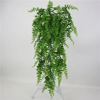 Plastic Artificial Leaves Persian Rattan Fake Plant Wall Hanging Courtyard Fake Leaf Home Decoration