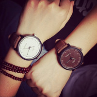 Vintage Faux leather Casual watches = 1932241092