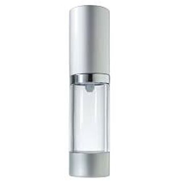 Silver Airless Treatment with Clear Body Pump Bottle 1/2oz