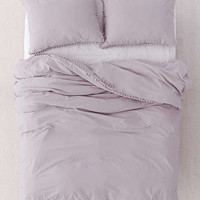 Washed Cotton Tassel Duvet Cover   Urban Outfitters