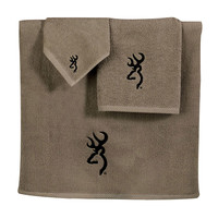 Browning Buckmark Bath Towels - Tan