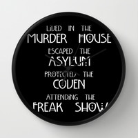 American Horror Story Four Seasons Wall Clock by Zharaoh