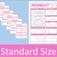 2015 Daily Planner Printable Pages, Daily Planner Pages, Daily To Do List, To Do List Printable, Daily Planner, 8.5 x 11 Planner Printables