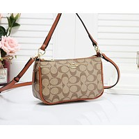 Samplefine2 Coach Simple and versatile casual handbag shoulder messenger bag 2#