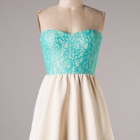 Sweet and Simple Dress - Mint