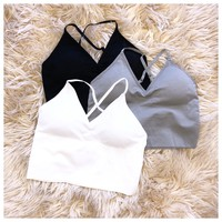 Fit Seamless Padded Crop Top