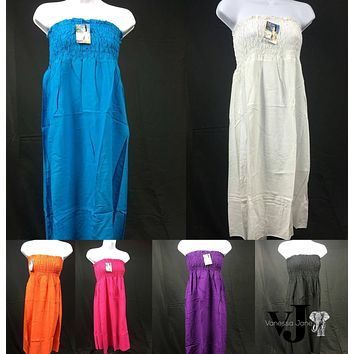 High Series Baldric Womens Solid Color Sundresses, Choose Sz/Color