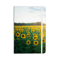 """Chelsea Victoria """"Sunflower Fields"""" Floral Photography Everything Notebook"""