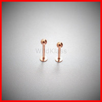 Rose Gold Tiny Stud Earrings 16g Labret Stud Nose Piercing Cartilage Earring Helix Piercing Tragus Jewelry Conch Earring