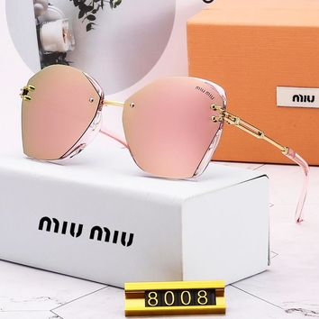 MIU MIU stylish men's and women's casual sunglasses are hot sellers of polygonal thickened hd sunglasses #4