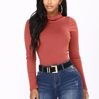 Meant For Just Me Top - Marsala