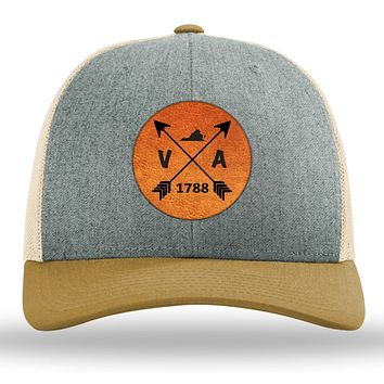 Virginia State Arrows - Leather Patch Trucker Hat