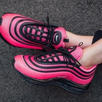 """Nike Air Max 97 UL '17 GS Running Shoes """"Black&Pink""""917999-001"""