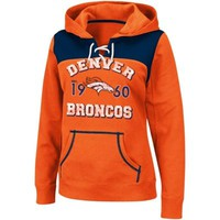 Denver Broncos Ladies Preseason Favorite III Lace-Up Hoodie - Orange