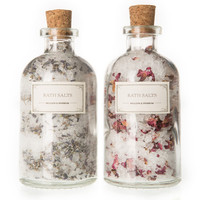 Rose & Lavender Bath Salt Duo