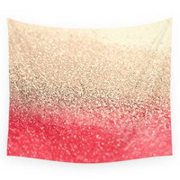 Society6 GOLD CORAL Wall Tapestry