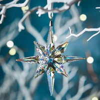 Swarovski Clear Crystal Star Christmas Ornament