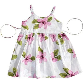 delight pink hawaiian girl sundress